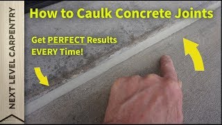 How to Caulk Concrete Control Joints with Perfect Results Every Time