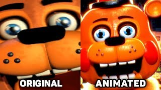 Five Nights at Freddy's 2 Jumpscares Original vs. Animated