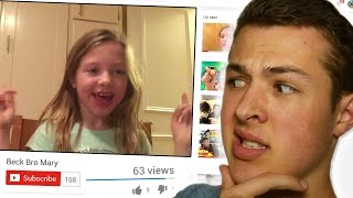 REACTING TO MY SISTER'S CHANNEL?!
