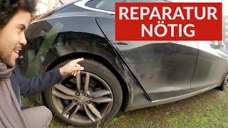 Tesla Model S Werkstatt Reparatur nach 20.000€ Autobahn Unfall