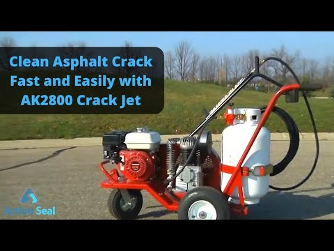 Clean Asphalt Crack Fast And Easily With AK2800 Crack Jet | Action Seal