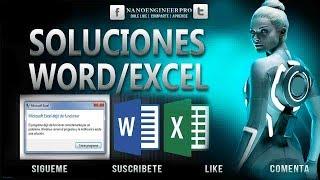 Como solucionar el problema de Microsoft Word/Excel  dejo de funcionar | 2010/2013/2016