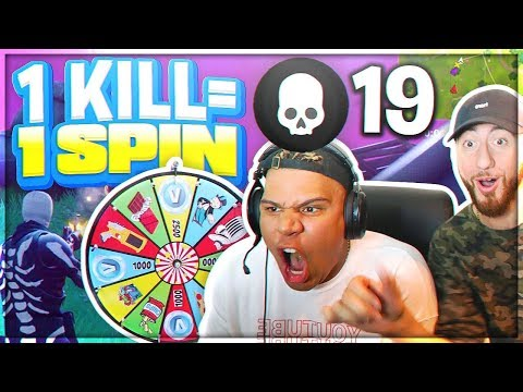 1 KILL = 1 SPIN! The Wheel Of Fortnite With WOLFIE!