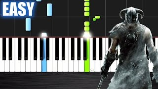Skyrim Theme - EASY Piano Tutorial by PlutaX - Synthesia