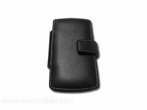 CarryMobile Leather Case for Samsung BlackJack i607 - Flip T