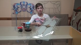 Матирование стекла без плоттерной резки в домашних условиях