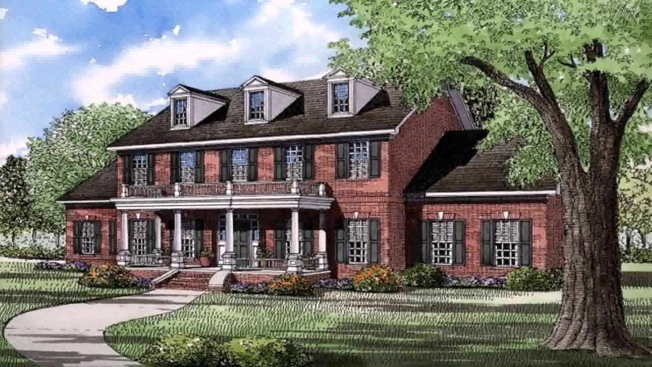 Colonial style homes images youtube Colonial home builders