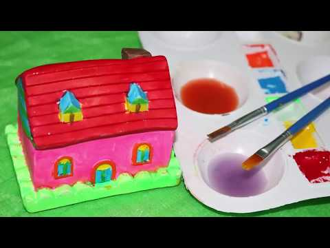 Painting colorful houses in youtube for kids world