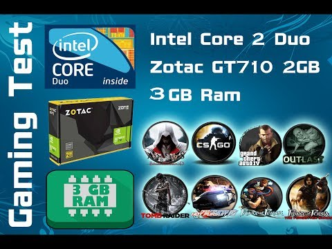 Gaming Test on Core 2 Duo | 3 GB Ram