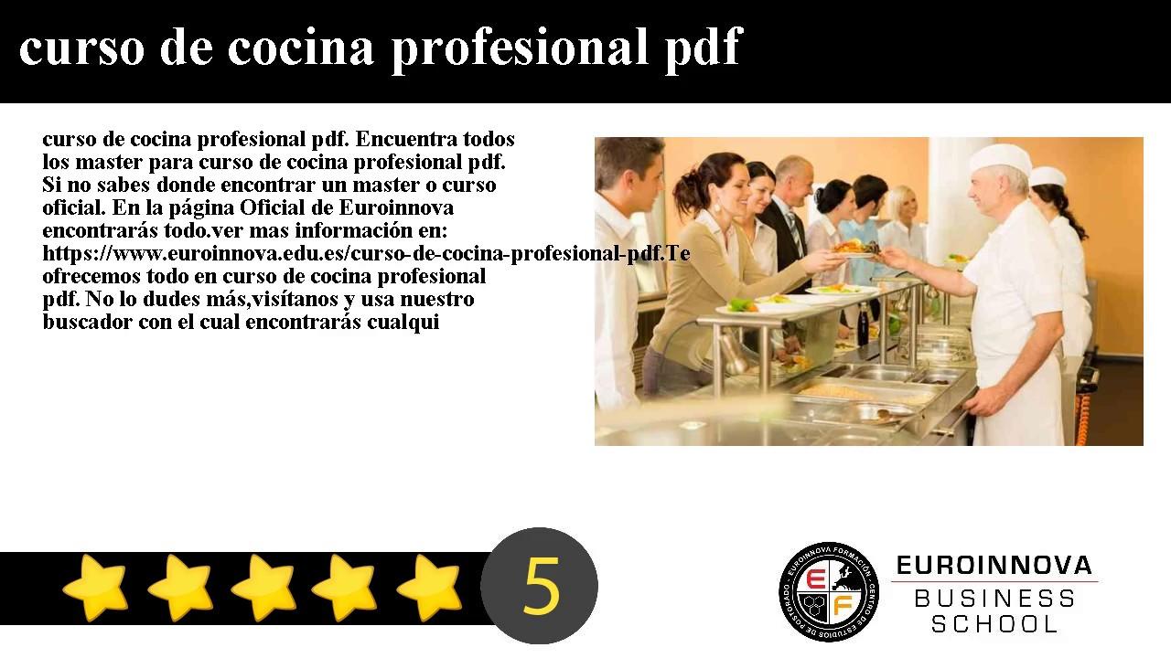 Cursos De Cocina Profesional   Curso De Cocina Profesional Pdf Youtube