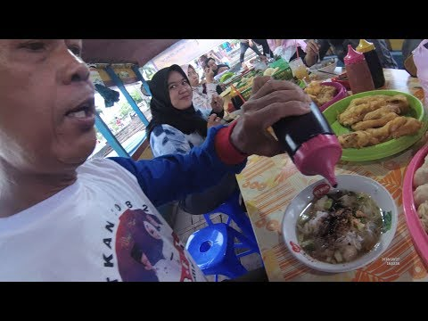 Indonesia Palembang Street Food 3661 Part.1 Tekwan Pempek Dll Cek Mery Sungai Musi YDXJ0806