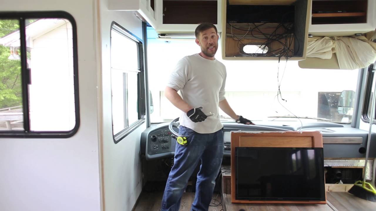 how to remove tv from front of rv