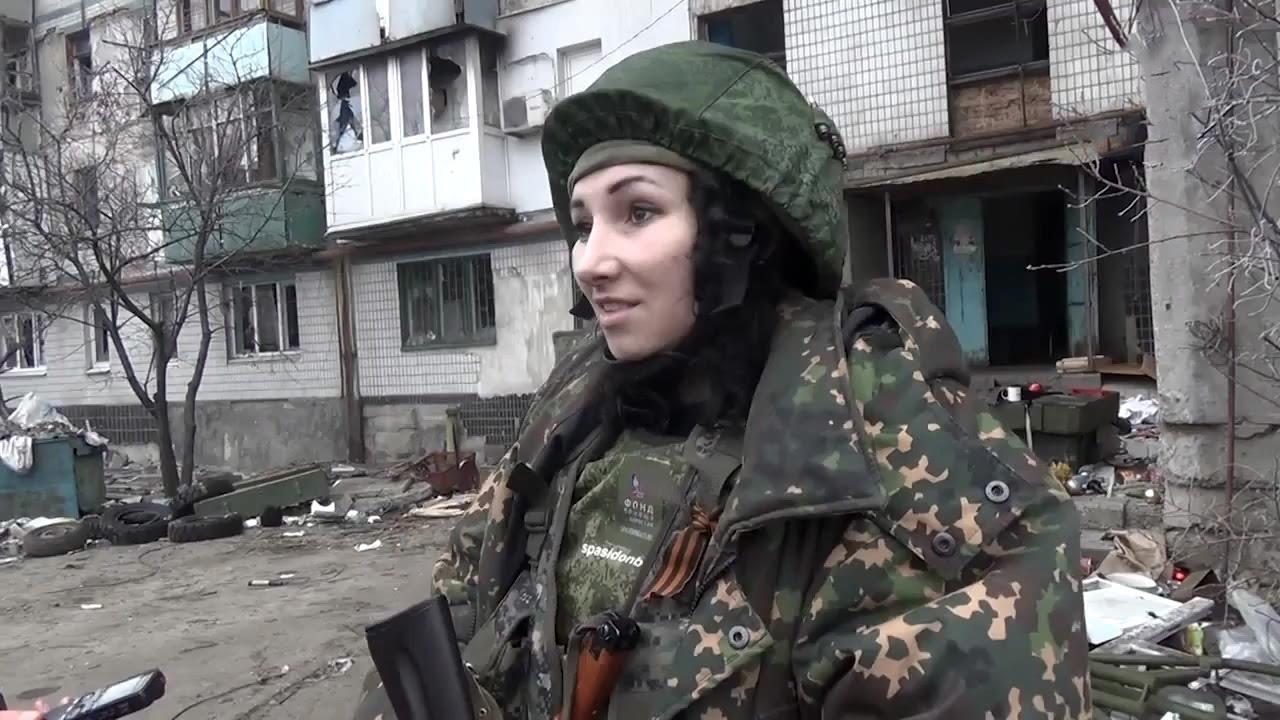 """Ополченка с позывным """"Лия"""". Ополчение Донбасса. - YouTube"""