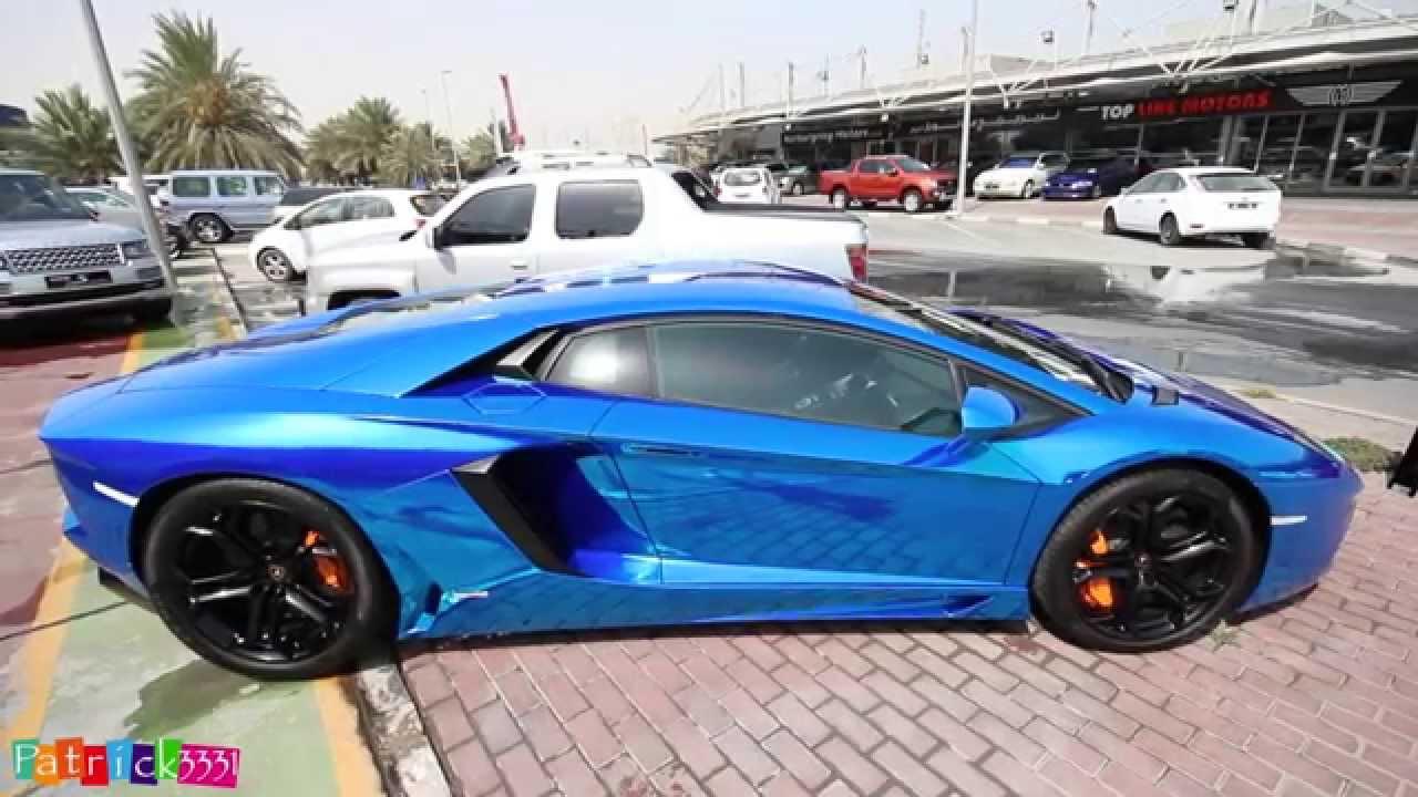 blue chrome lamborghini aventador lp700 4 inc start up youtube - Lamborghini Aventador Blue Chrome