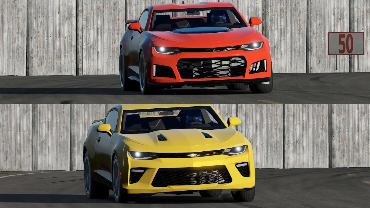 Camaro Ss Vs Camaro Zl1 Around The Top Gear Track Youtube