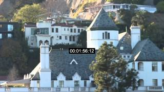 Chateau Marmont - Hotel - West Hollywood - Sunset Blvd - California - Stock Footage