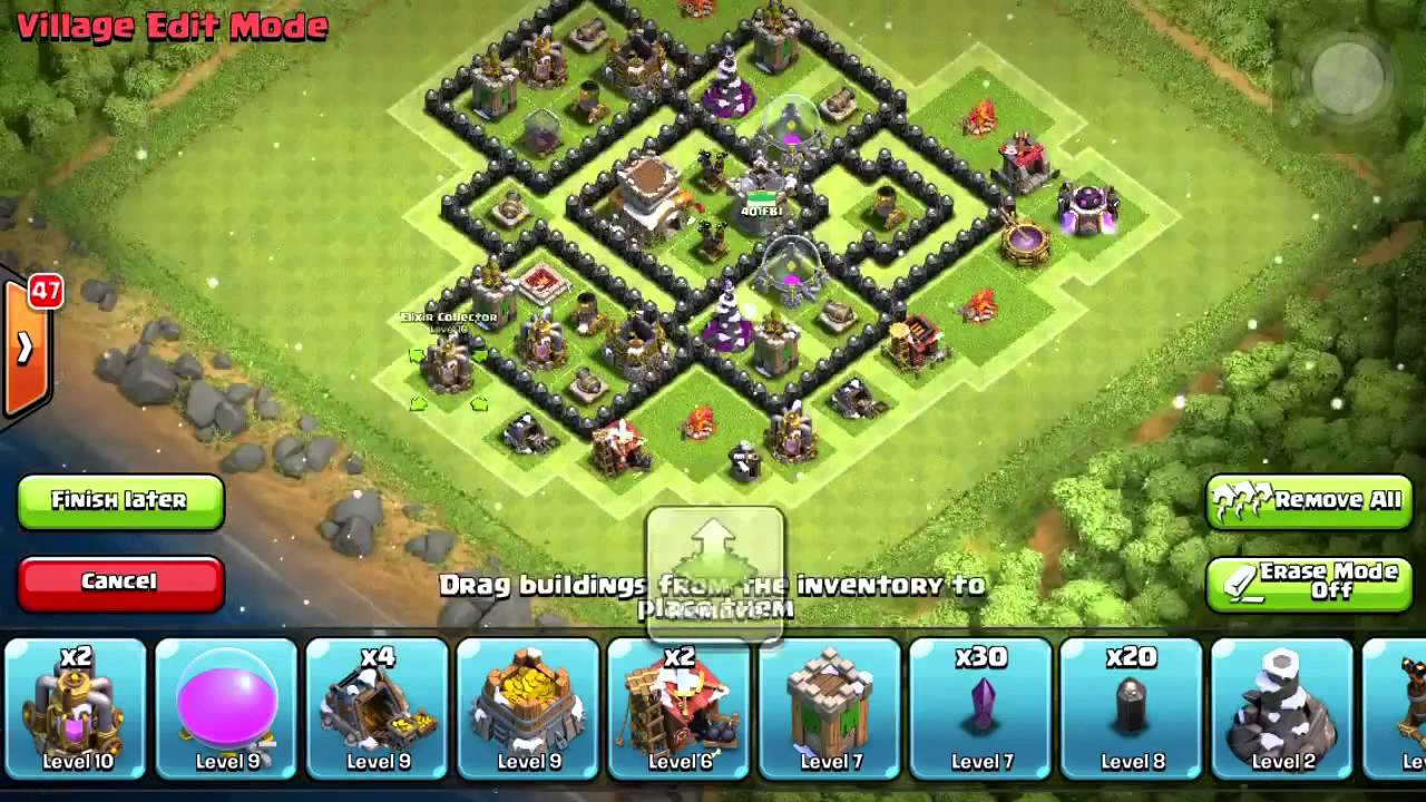Of clans town hall 7 war base w dark elixir drill after christmas