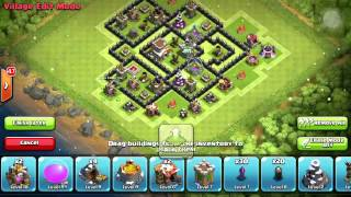 Clash of Clans - Town Hall 7 War Base W/ Dark Elixir Drill (After Christmas Update)