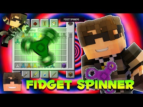 FIDGET SPINNERS IN MINECRAFT! (Minecraft Fidget Spinner Mod Review!)