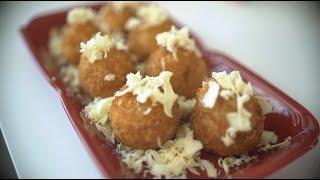 Cheesy Stuffed Rice Balls