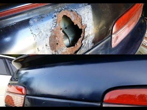 DIY Trunk Rust Repair - Lexus SC400 Finale
