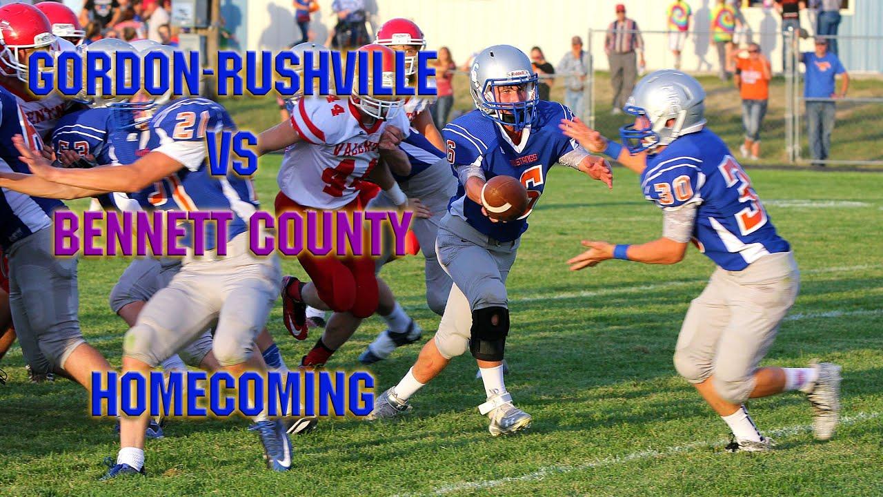 Gordon Rushville Football Vs Bennett County
