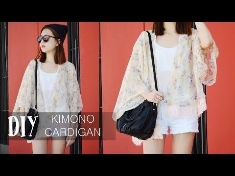 DIY Kimono Cardigan - YouTube
