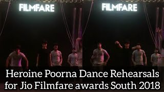 Heroine Poorna Dance Rehearsals for Jio Filmfare awards 2018  ll Ganeshdhoni Talkies