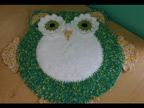 Crocher Owl Area Rug For Baby's Room Part #1