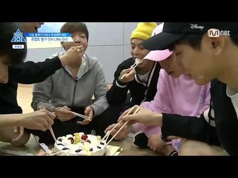[produce 101 season 2] jihoon sewoon birthday prank eng sub
