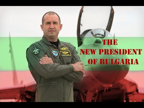 THE NEW PRESIDENT OF BULGARIA in MIG 29 ( GENERAL RUMEN RADE