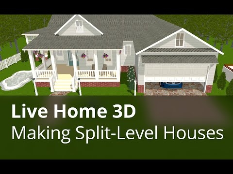 Live Home 3D for Mac Tutorials - Making Split Level Houses