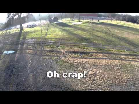 A slight mishap out doing some Quadcopter FPV - still landed upright