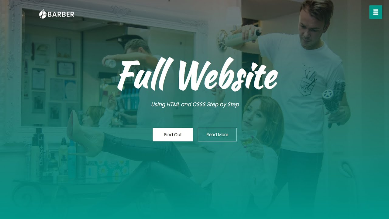 How To Make Website Using HTML CSS | Crete Full Website Step by Step