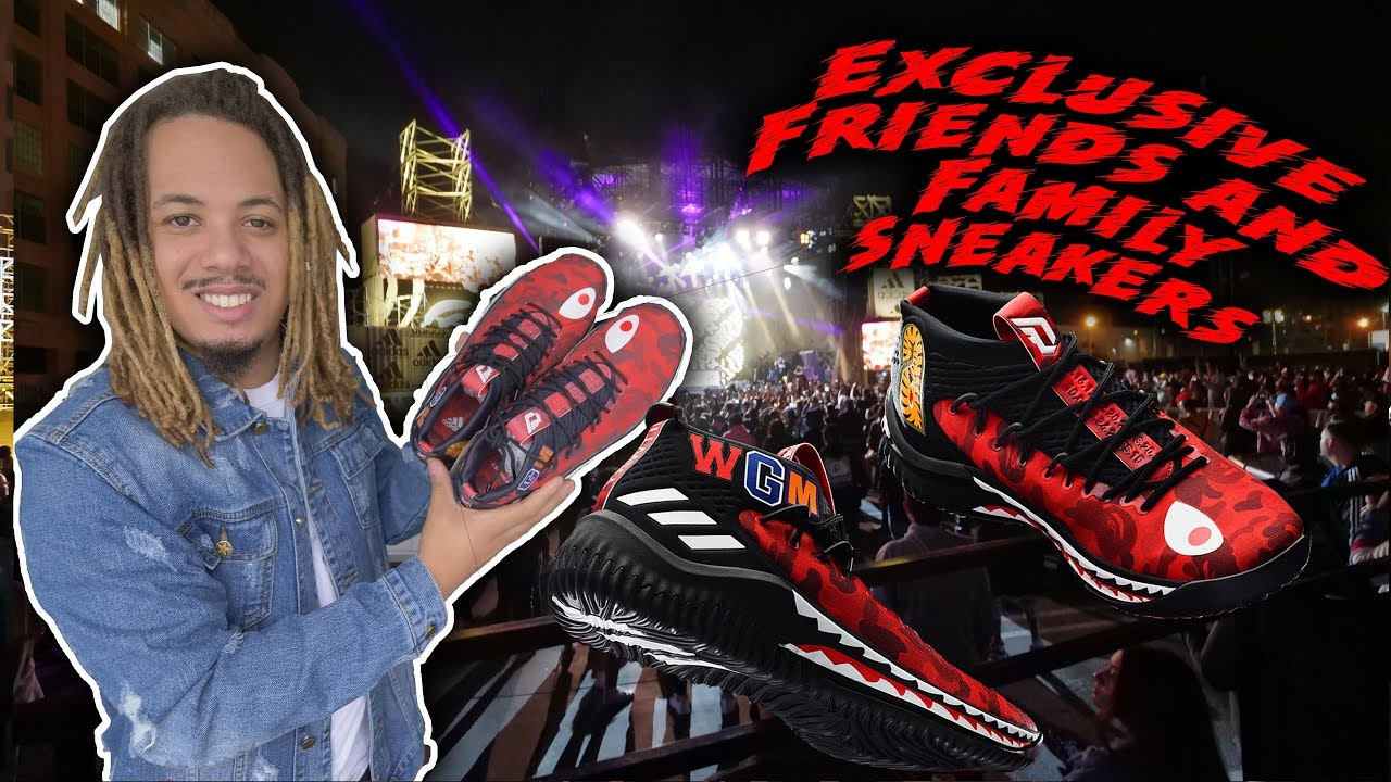 f861ce200d7a ADIDAS X BAPE DAME 4 FRIENDS   FAMILY PICKUP !!! ADIDAS 747 WAREHOUSE RECAP  !!!