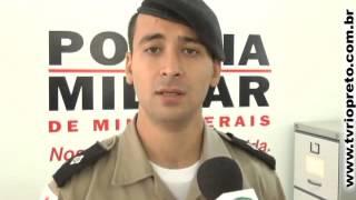 Assaltantes trocam tiro com a policia durante assalto em Uruana de Minas