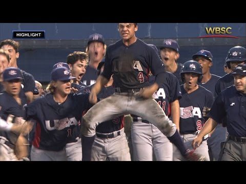 Highlights: USA v Korea - U-18 Baseball World Cup 2015