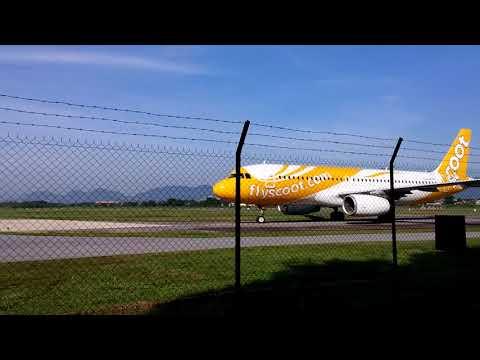 Scoot Tigerair Airbus A320-200 9V-TRD landing at Ipoh, Perak Airport from Singapore