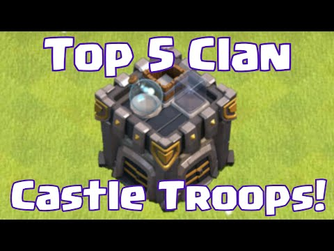 Clash Of Clans Best Clan Castle Troops On Defense | Clash Of Clans Top 5 Best Troops