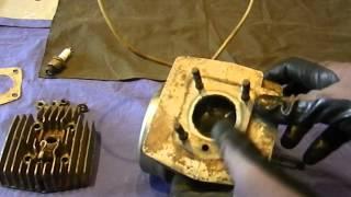 TUTO: Demontage de la culasse et du cylindre d un moteur de mobylette: