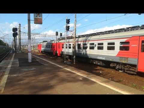 Электропоезд ЭД4М на станции Бирюлево Пассажирское