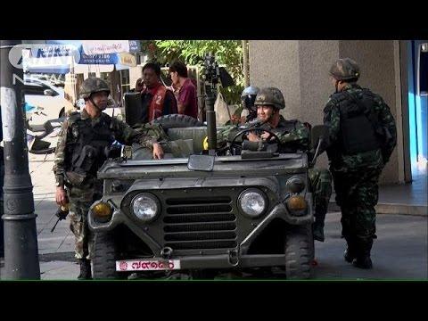 全土に戒厳令発令のタイ 軍が首相府を奪還(14/05/21)
