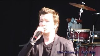 Rick Astley live - Never Gonna Give You Up (HD) - Alton Towers, UK - 23-05-2010