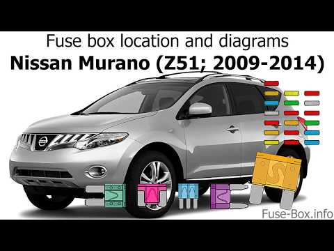 [DIAGRAM_5FD]  Fuse box location and diagrams: Nissan Murano (Z51; 2009-2014) - YouTube | 2015 Murano Fuse Box Diagram |  | YouTube