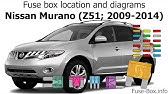 [DHAV_9290]  Where to Find How to Change Fuses 09-14 Nissan Murano - YouTube | 2015 Murano Fuse Box Designations |  | YouTube