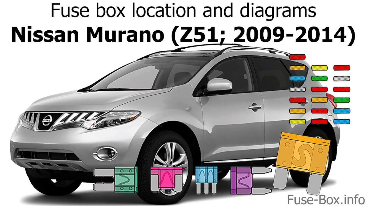 fuse box location and diagrams nissan murano z51 2009 2014  [ 1280 x 720 Pixel ]