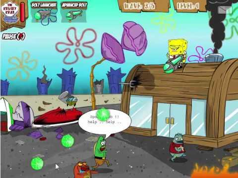 Игра зомби губка боб школа мир сериалов