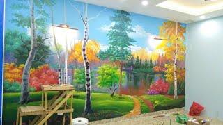 Vẽ tranh tường 3D, tranh phong cảnh
