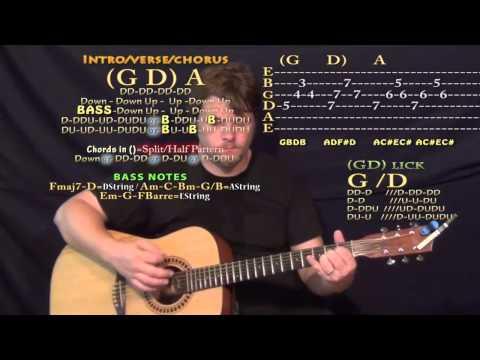 First (Cold War Kids) Guitar Lesson Chord Chart - G D A