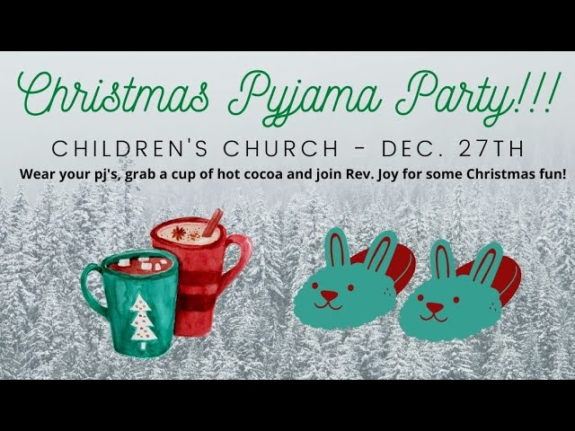 Children's Church - Sunday Dec. 27